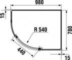 JIKA TIGO 2.5121.1.002.668.1 Sprchový kout asymetrický 98 × 78 cm, transparent