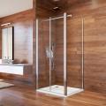 Sprchový kout, Lima, čtverec, 80x80x190 cm, chrom ALU, sklo Čiré, dveře lítací