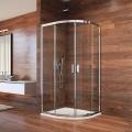 Sprchový kout, Lima, čtvrtkruh, 100x190 cm, R 550, chrom ALU, sklo Čiré Mereo