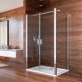Sprchový kout, Lima, obdélník, 90x100x190 cm, chrom ALU, sklo Čiré