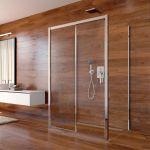 Sprchový kout, Lima, obdélník, 100x120x100x190 cm, chrom ALU, sklo Čiré