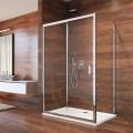 Sprchový kout, Lima, obdélník, 120x100x190 cm, chrom ALU, sklo Point