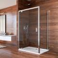 Sprchový kout, Lima, obdélník, 80x100x190 cm, chrom ALU, sklo Čiré