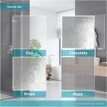 Sprchový kout, LIMA, čtverec, 90x90x190 cm, chrom ALU, sklo Point, dveře lítací