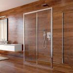 Sprchový set: Lima, obdélník, 100x120x100x190 cm, chrom ALU, sklo Čiré vč. vaničky litý mramor