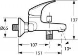 Jika - TALAS vanová páková baterie bez sprchové sady, 3.211N.7.004.400.1