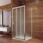 Sprchový kout, LIMA, čtverec, 90x90x190 cm, chrom ALU, sklo Point