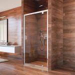 Sprchový kout  Lima, obdél.,pivot. dveře, 2xboční stěna, 100x80x100x190cm, chrom ALU, sklo Čiré 6mm