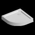 Čtvrtkruhová sprchová vanička R550, 80x80x14 cm, SMC, bílá, včetně nožiček a sifonu Mereo