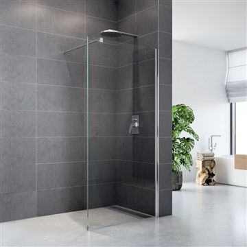 Sprchová stěna WALK IN, Novea, 90 x 200 cm, chrom ALU, sklo Čiré Mereo