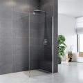 Sprchová stěna WALK IN, Novea, 80 x 200 cm, chrom ALU, sklo Čiré