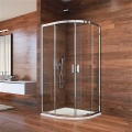 Sprchový kout, Lima, čtvrtkruh, 90x90x190 cm, R 550, chrom ALU, sklo Čiré