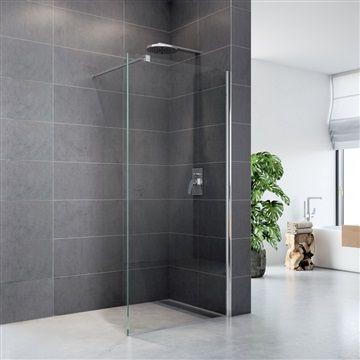 Sprchová stěna WALK IN, Novea, 120 x 200 cm, chrom ALU, sklo Čiré Mereo