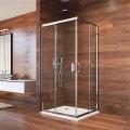 Sprchový kout, Lima, čtverec, 90x90x190 cm, chrom ALU, sklo Čiré
