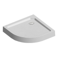 Čtvrtkruhová sprchová vanička R550, 90x90x14 cm, SMC, bílá, včetně nožiček a sifonu