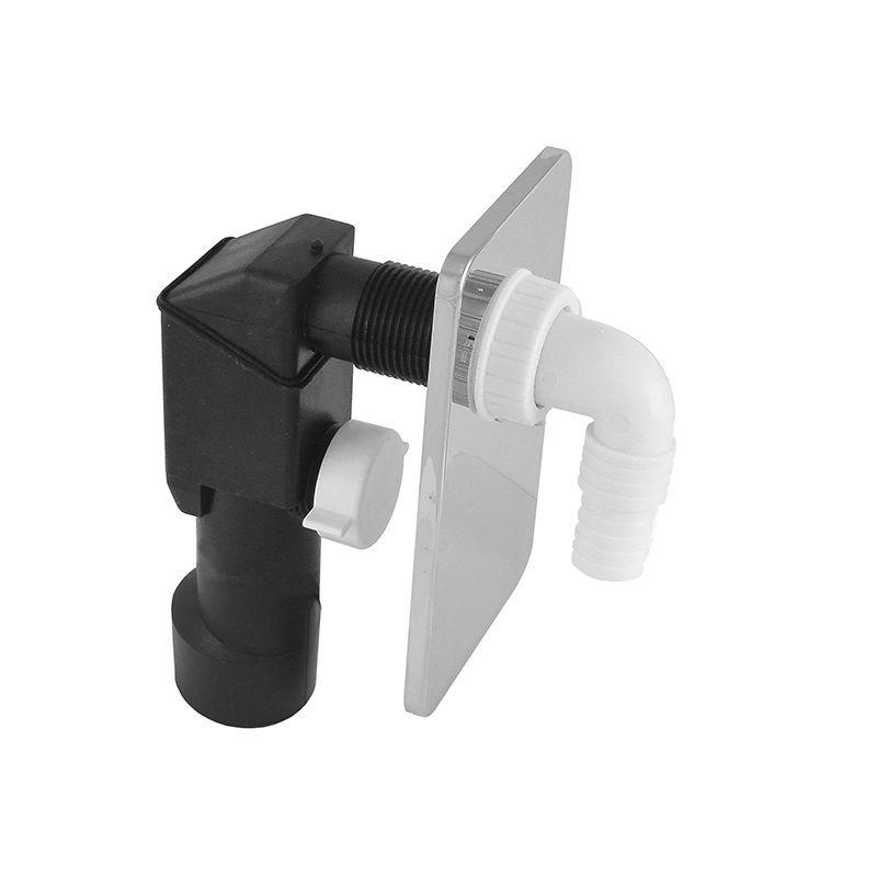 Sifon pračkový podomítkový ø 40/50 mm, chromovaný plast Klum