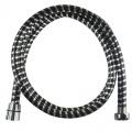 Sprchová hadice 150 cm, černá - chrom