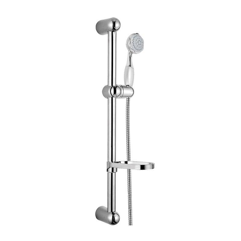 Sprchová souprava, pětipolohová sprcha, dvouzámková hadice, stavitelný držák, mýdlenka, plast/chrom Mereo