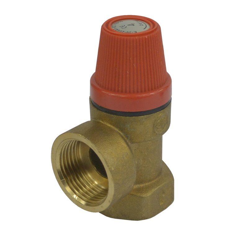 """Pojišťovací ventil pro bojler s pevně nastaveným tlakem 4 bar, 1/2"""" Klum"""