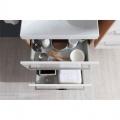 Bino koupelnová skříňka s keramický umyvadlem 60 cm, bílá/bílá, 2 zásuvky Mereo